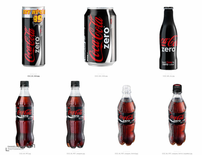 Coke Zero, Packshot, Product shots