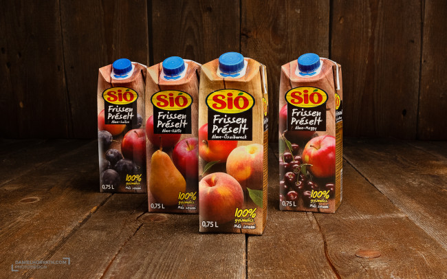 Eckes-Granini, Fruits, Juice, Liquids, Packaging, Sió